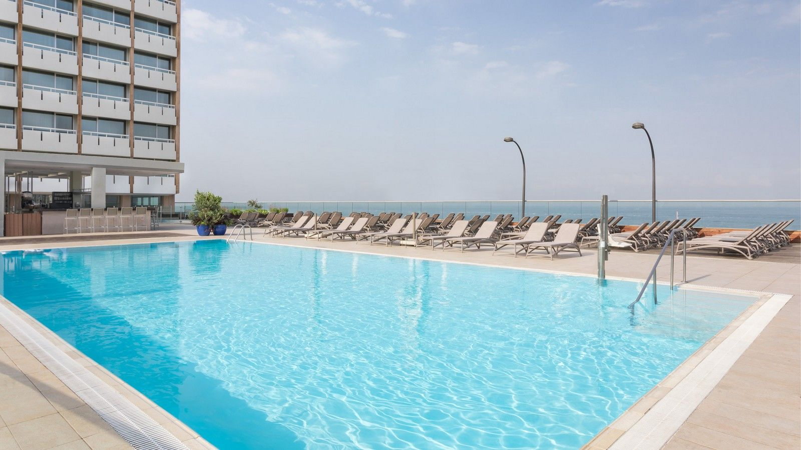 Outdoor pool at Sheraton Tel Aviv